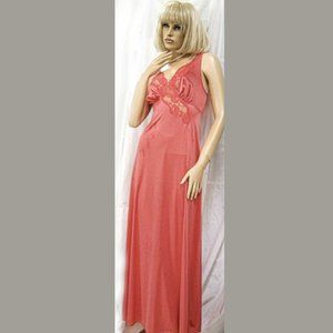 VANITY FAIR ROSE NYLON LACE SEXY LONG NIGHTGOWN 32